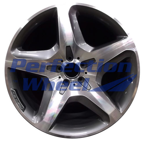 WAO.85364 21x10 Bright Metallic Charcoal Machined Bright
