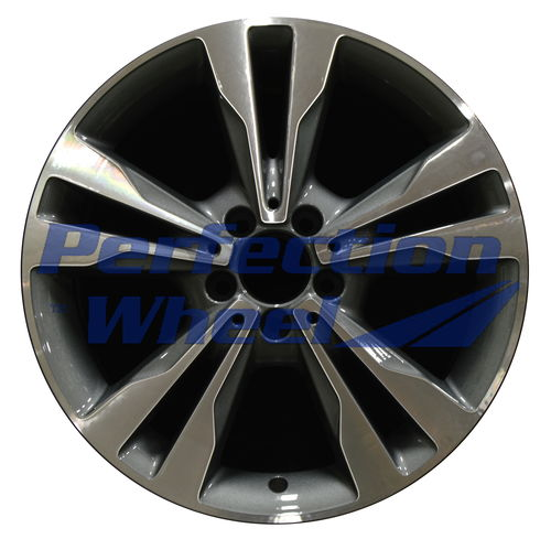 WAO.85370FT 18x7.5 Medium Charcoal Machined Bright