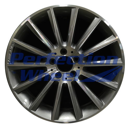 WAO.85375RE 19x8.5 Medium Charcoal Machined Bright