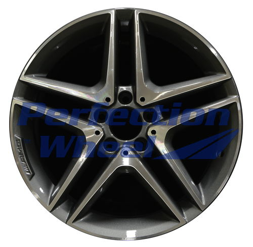 WAO.85394 18x8 Medium Charcoal Machined Bright Painted OD