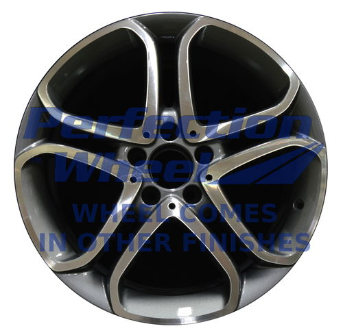 WAO.85430FT 18x8.5 Medium Charcoal Machined Bright Painted OD