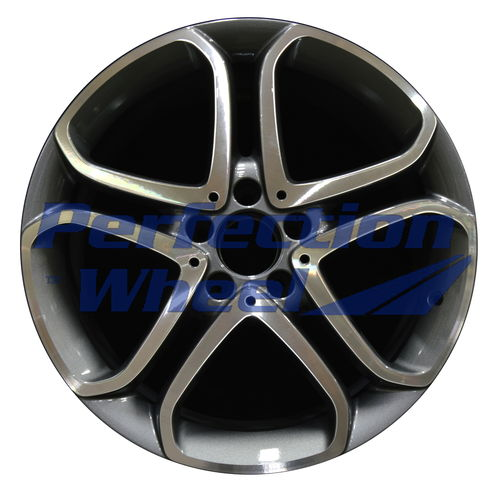 WAO.85430FT 18x8.5 Medium Charcoal Machined Bright POD