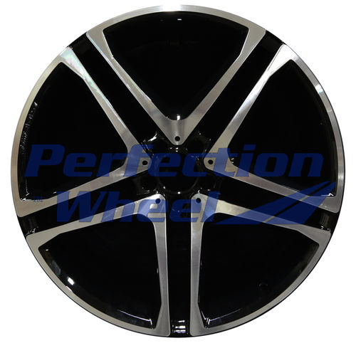 WAO.85492FT 22x10 Black Machined Bright