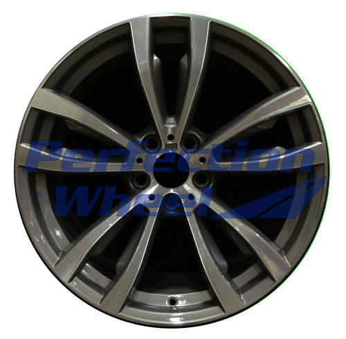 WAO.86053FT 20x10 Medium Charcoal Machined