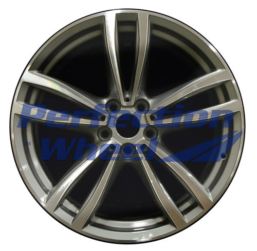 WAO.86275FT 19x8.5 Fine Metallic Med. Charcoal Machined Bright