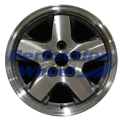 WAO.9038B 16x7 Metalic Charcoal Machined