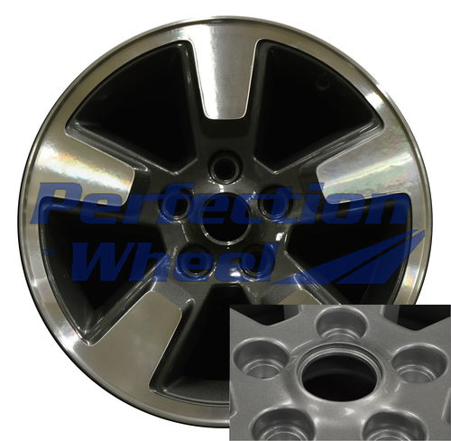WAO.9084 16x7 Dark Metallic Charcoal Machined